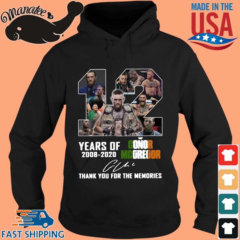 12 years of Conor Mcgregor 2008 2020 signature thank you for the memories s hoodie den