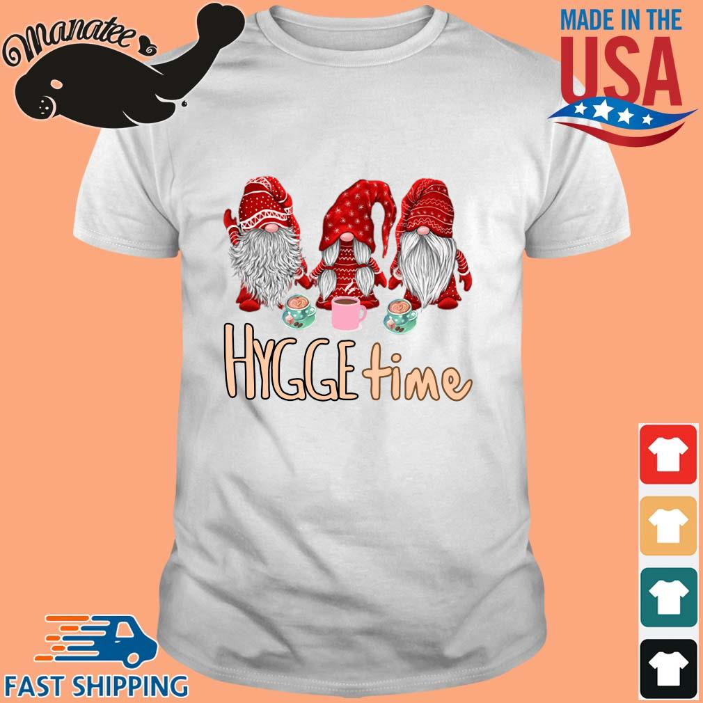 Christmas Gnomes red Hygge coffee shirt