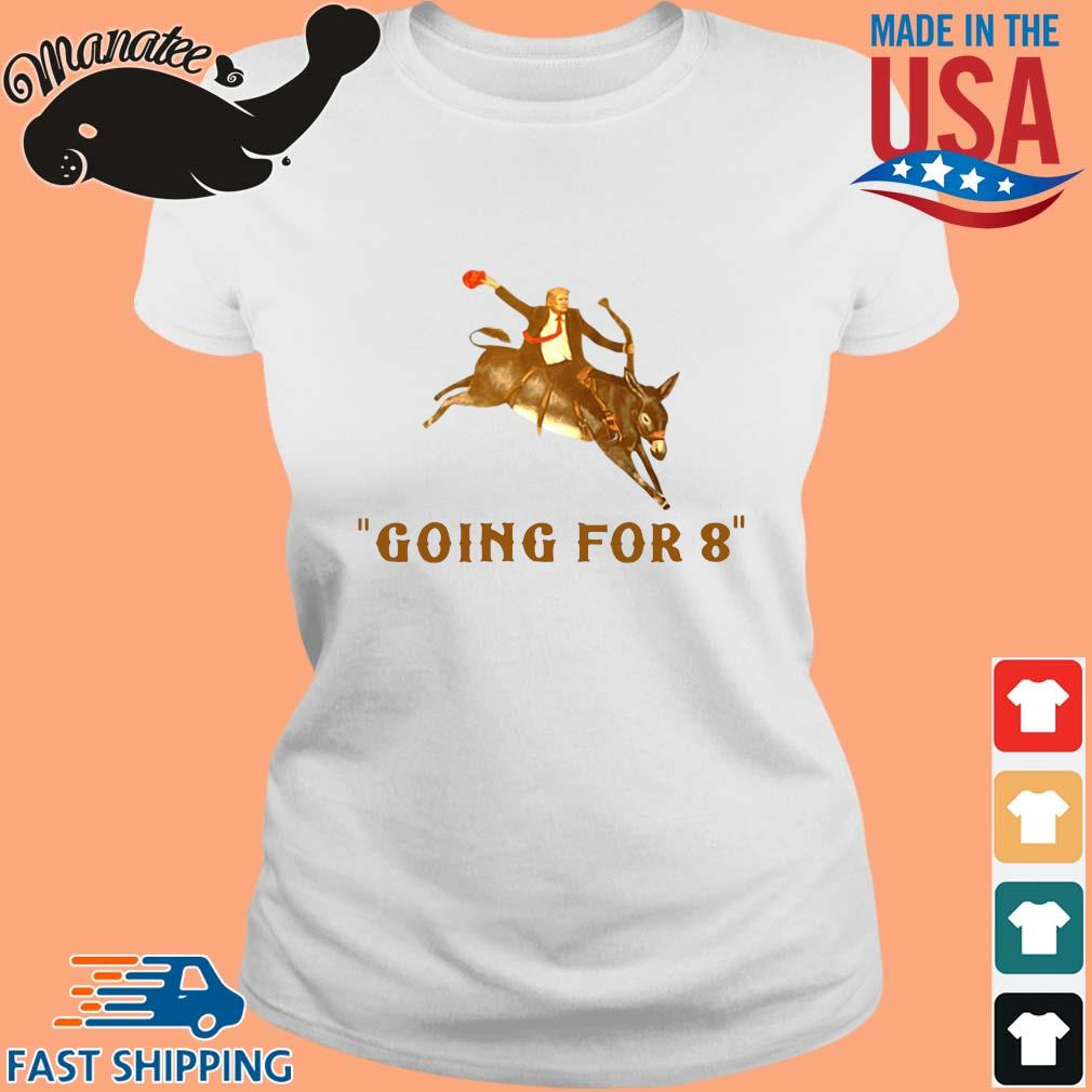 Donald Trump ridding donkey going for 8 s Ladies trang