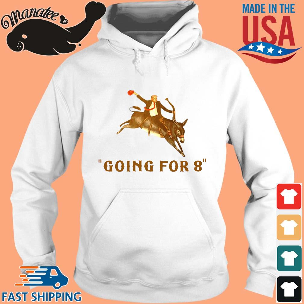 Donald Trump ridding donkey going for 8 s hoodie trang