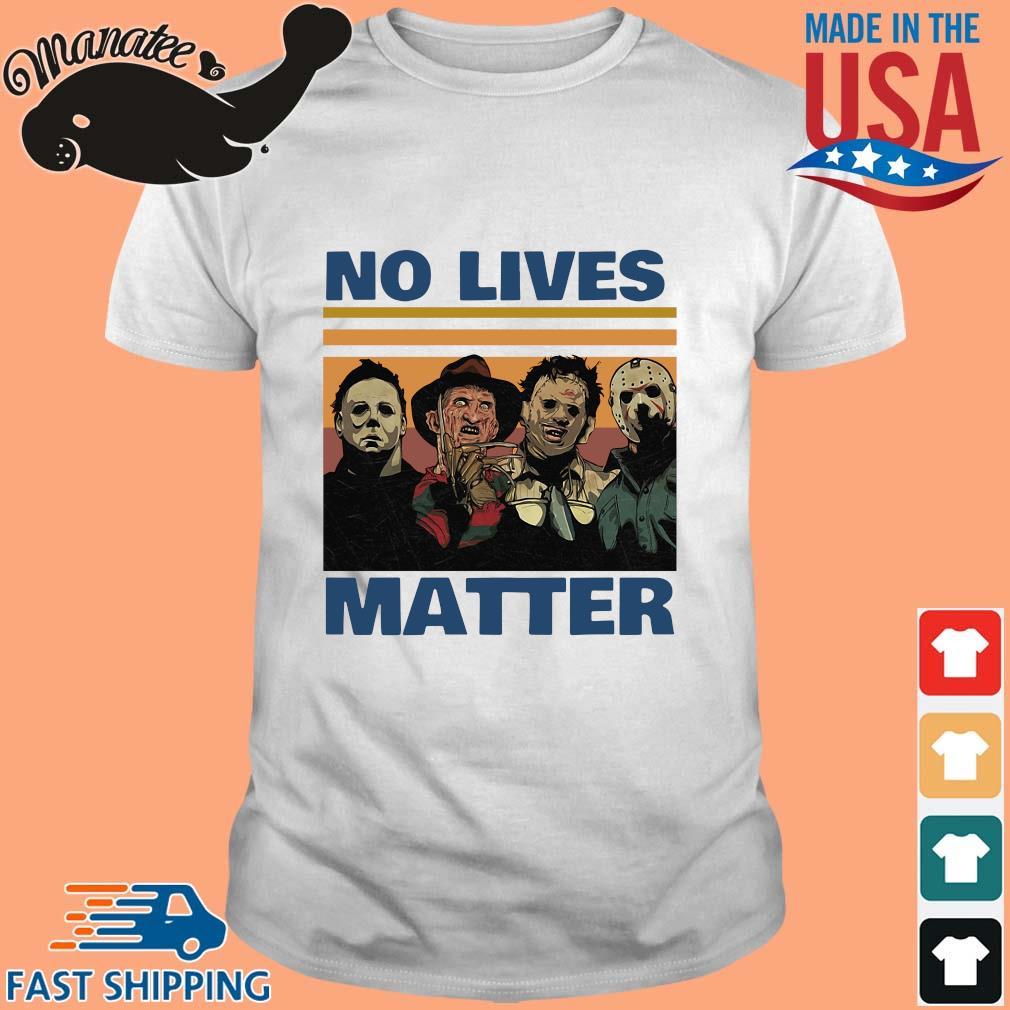 Horror character no lives matter Halloween vintage shirt