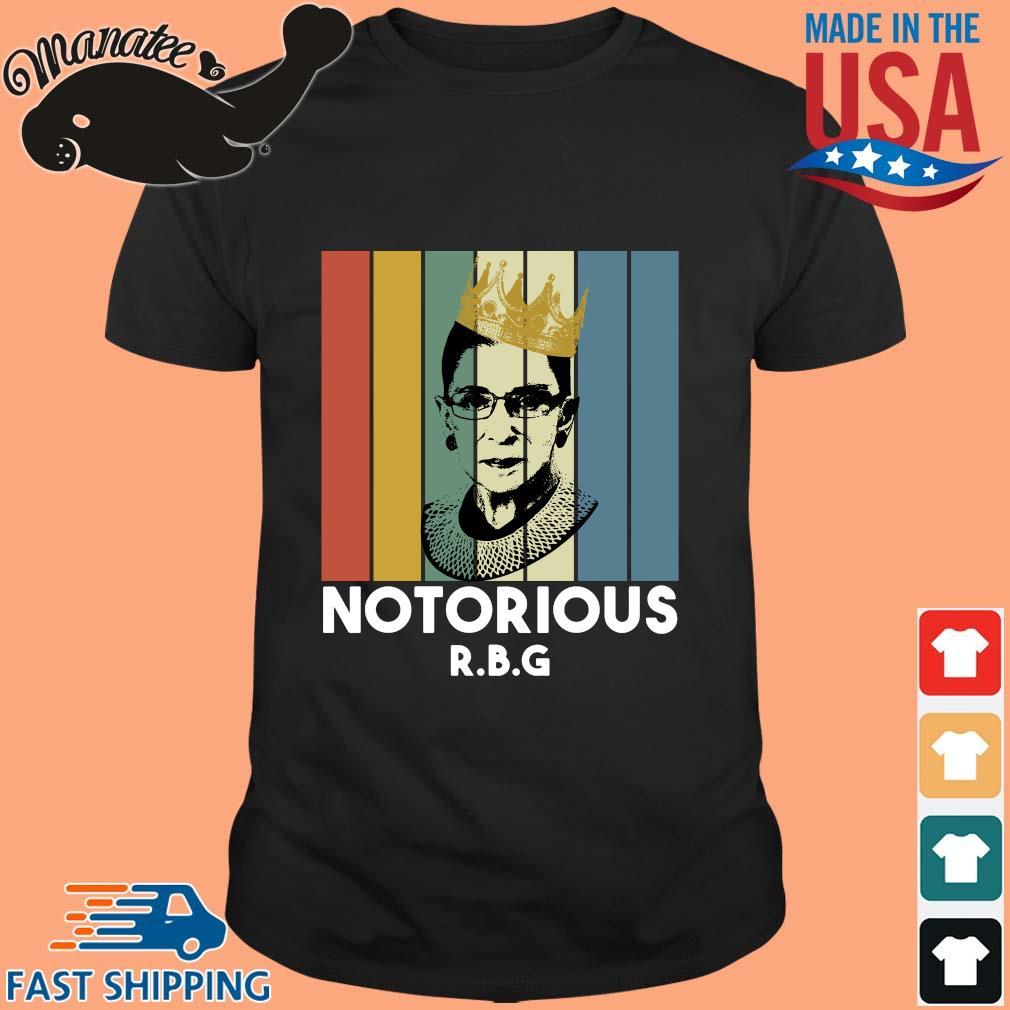 Ruth Bader Ginsburg crown notorious RBG vintage shirt