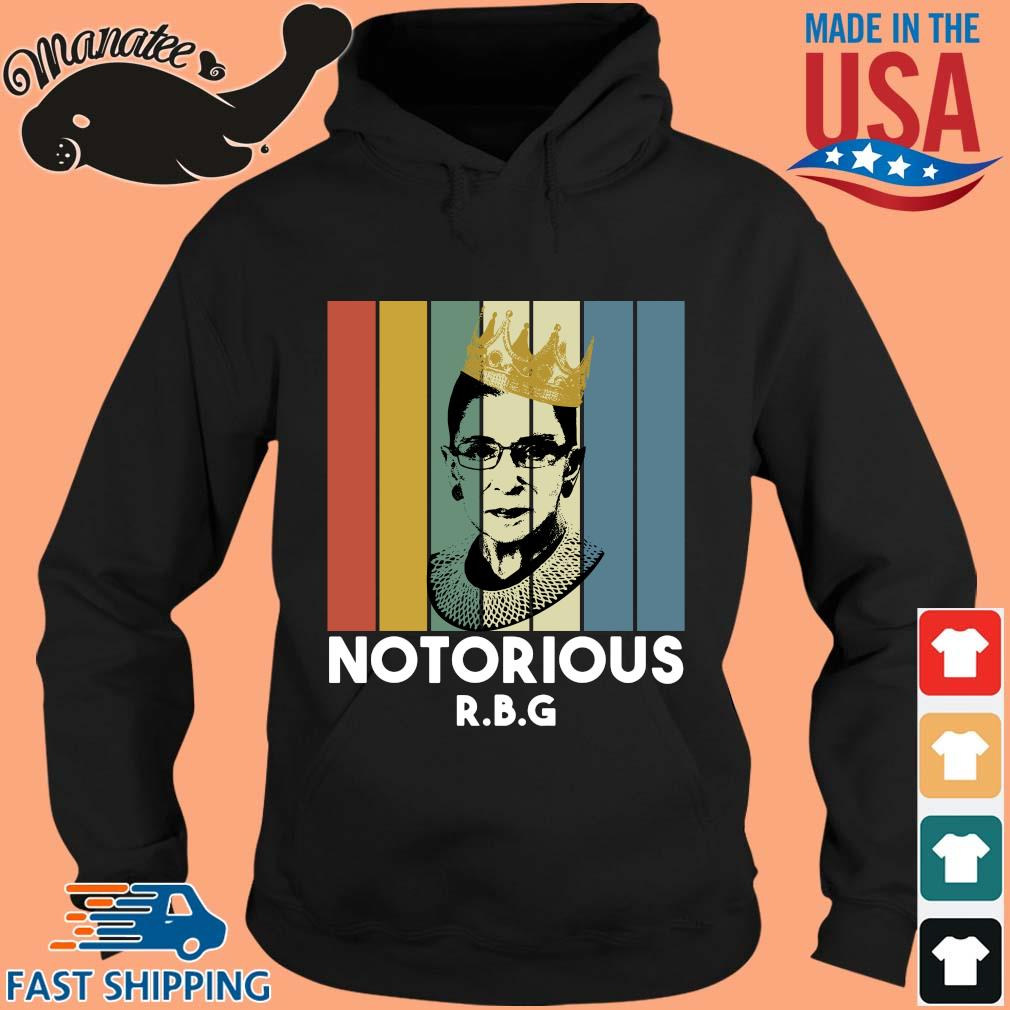 Ruth Bader Ginsburg crown notorious RBG vintage s hoodie den