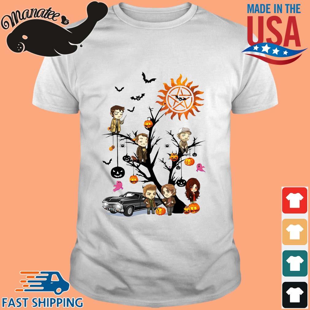 Supernatural tree Happy Halloween shirt