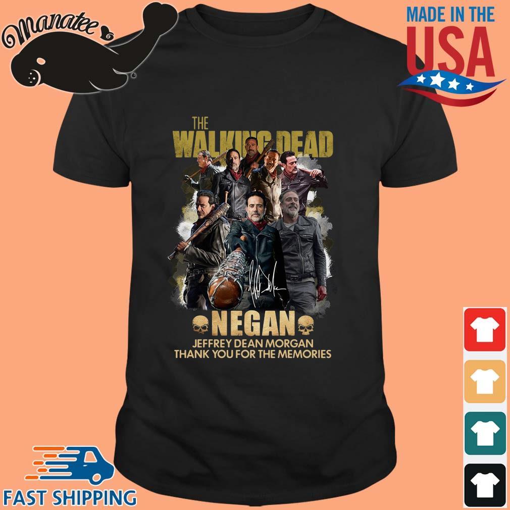 The Walking Dead Negan Jeffrey Dean Morgan signature thank you for the memories shirt