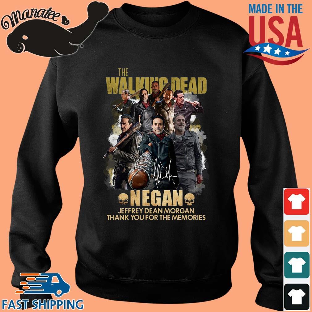 The Walking Dead Negan Jeffrey Dean Morgan signature thank you for the memories s Sweater den