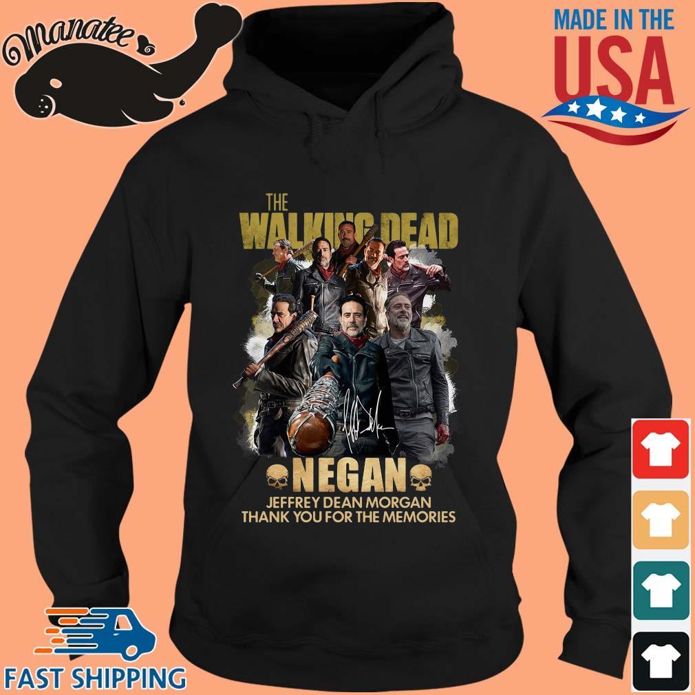 The Walking Dead Negan Jeffrey Dean Morgan signature thank you for the memories s hoodie den