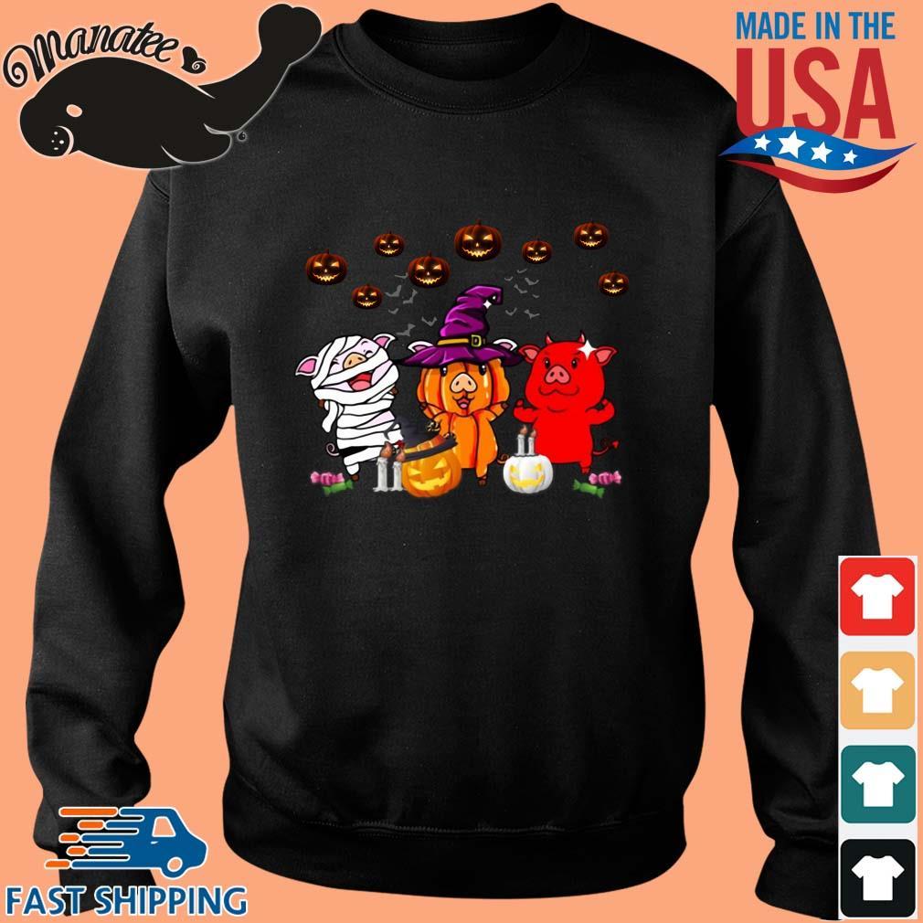 Three pigs witches pumpkin Halloween s Sweater den