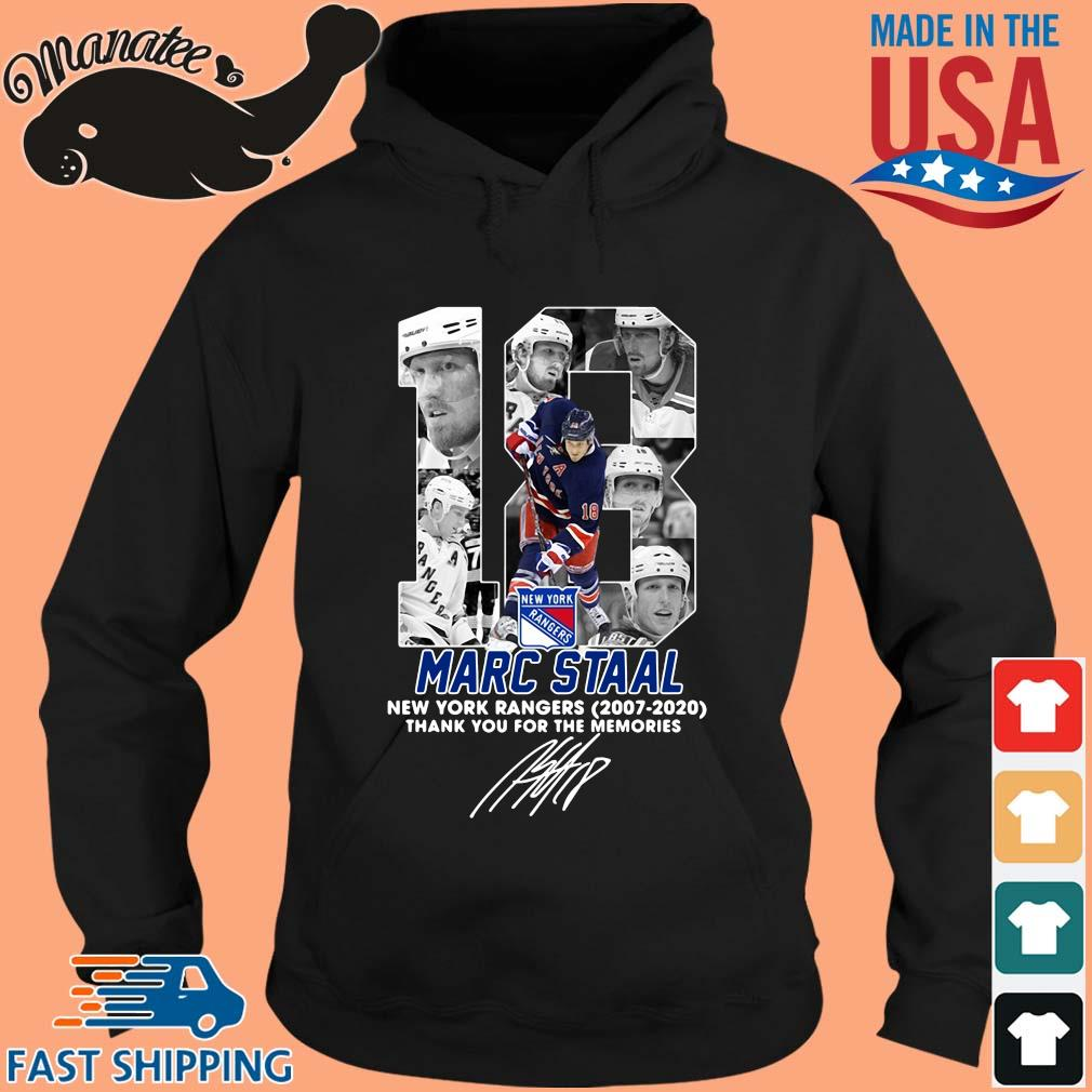 18 Marc Staal New York Rangers 2007 2020 thank you for the memories signature s hoodie den