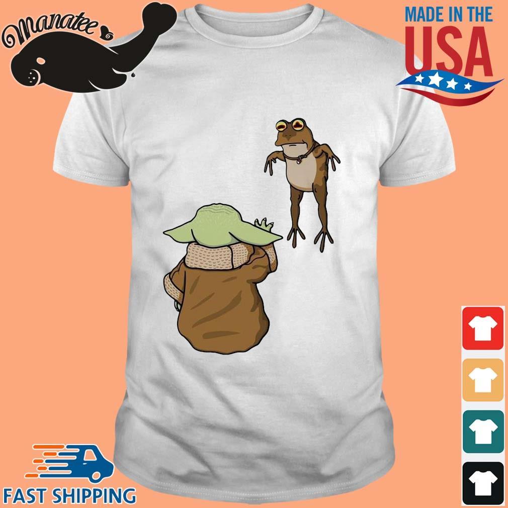 Baby Yoda And Frog Shirt