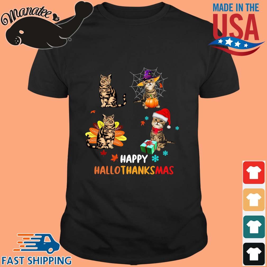 Cats happy Hallothanksmas sweater