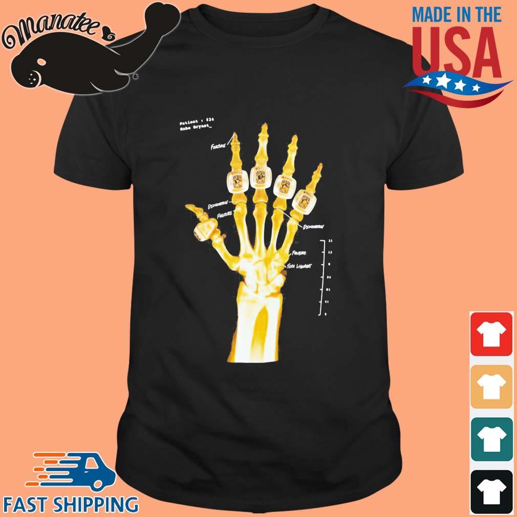 Kobe Bryant Hand Gold Rings X-Ray Shirts