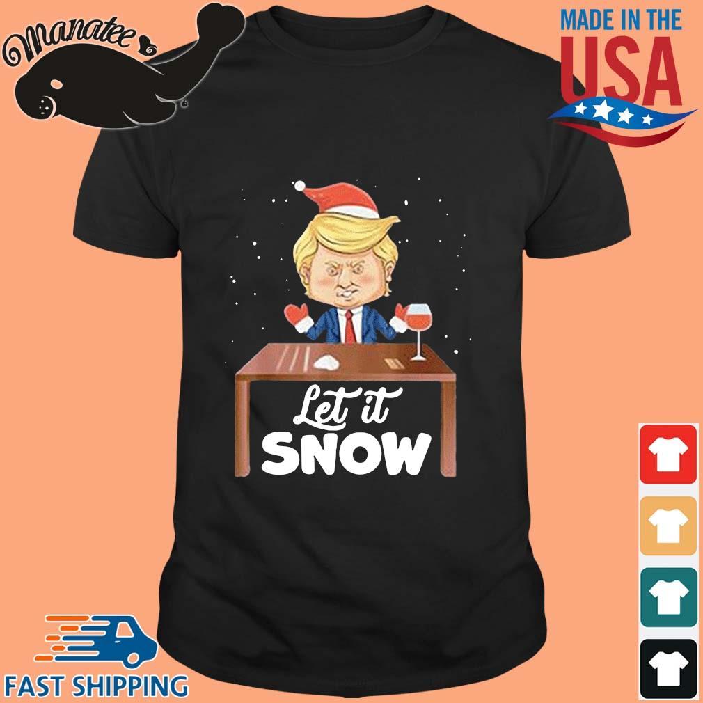 Let It Snow Trump Cocaine Xmas Ugly Christmas Sweatshirt