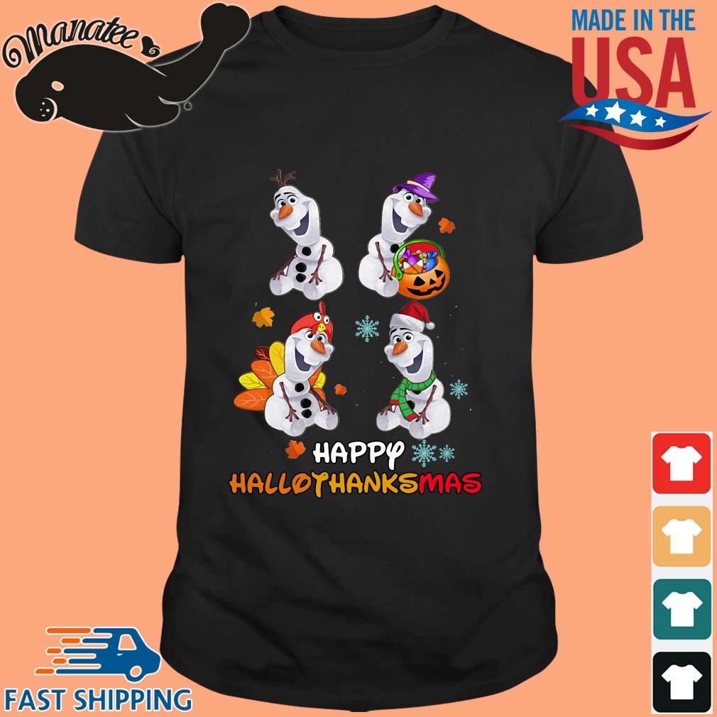 Olaf Halloween and Merry Christmas happy Hallothanksmas shirt