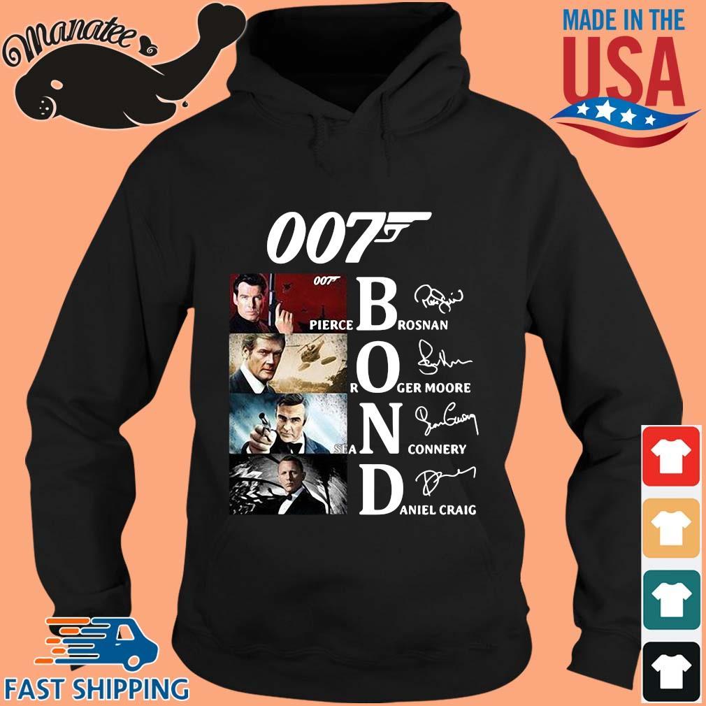 007 Pierce brosnan Roger Moore Sean Connery Daniel Craig signatures sweater hoodie den