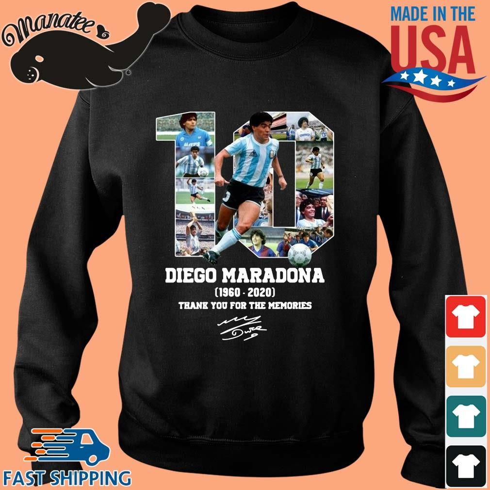 10 Diego Maradone 1960 2020 signature thank you for the memories shirt