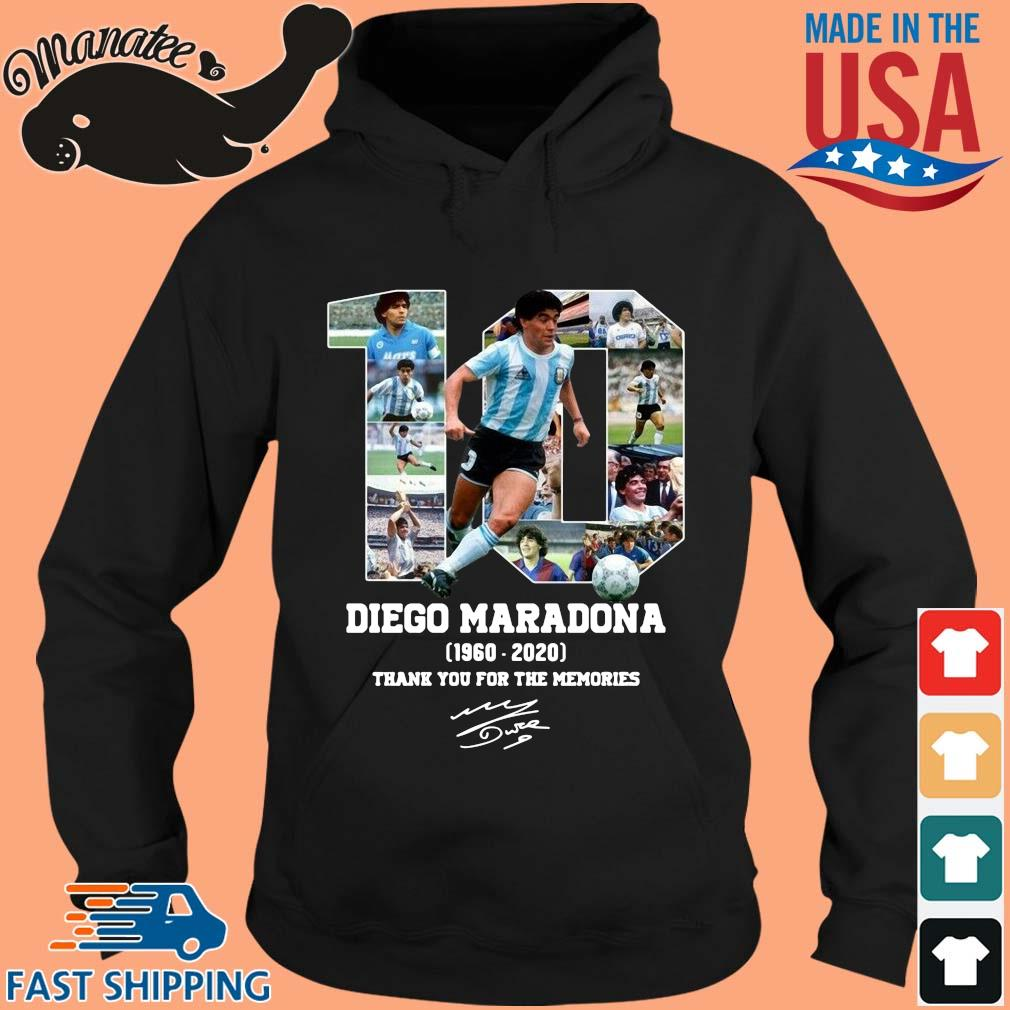 10 Diego Maradone 1960 2020 signature thank you for the memories s hoodie den