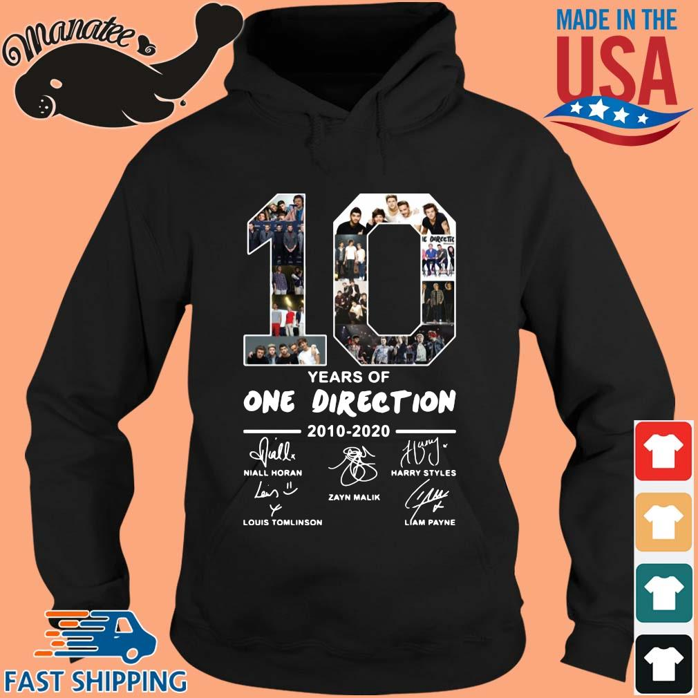 10 years of One Direction 2010 2020 signatures s hoodie den