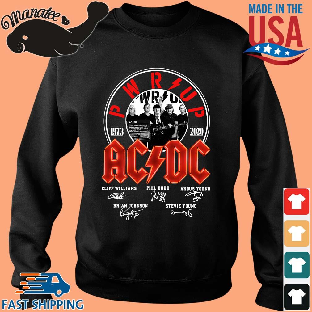 AC DC PWR up 1973 2020 signatures shirt