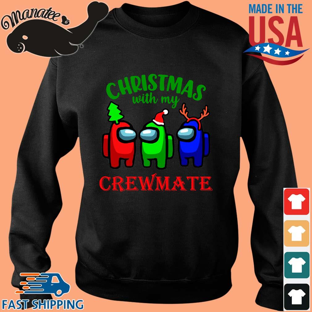 Christmas with my crewmate Among Us sweater Sweater den