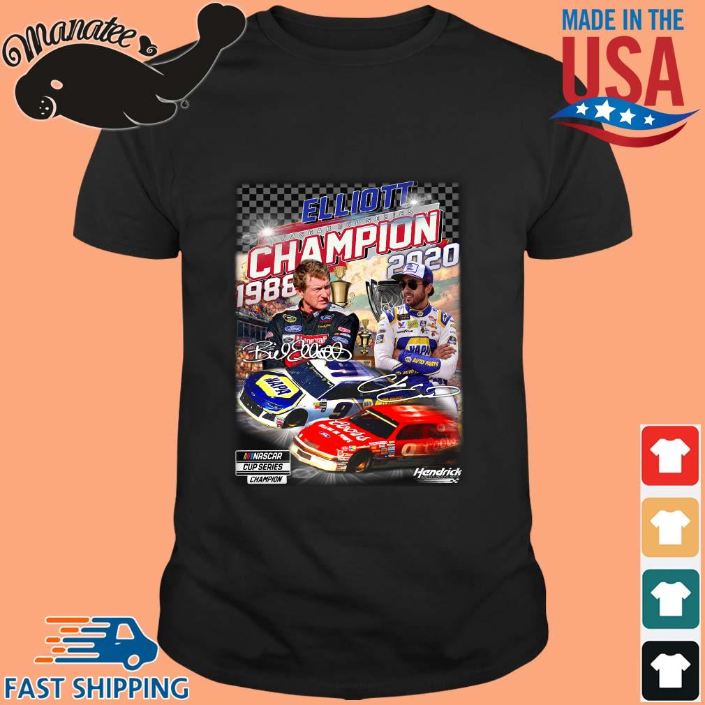 Elliott Nascar Cup Series Champion 1988-2020 Signatures Shirt