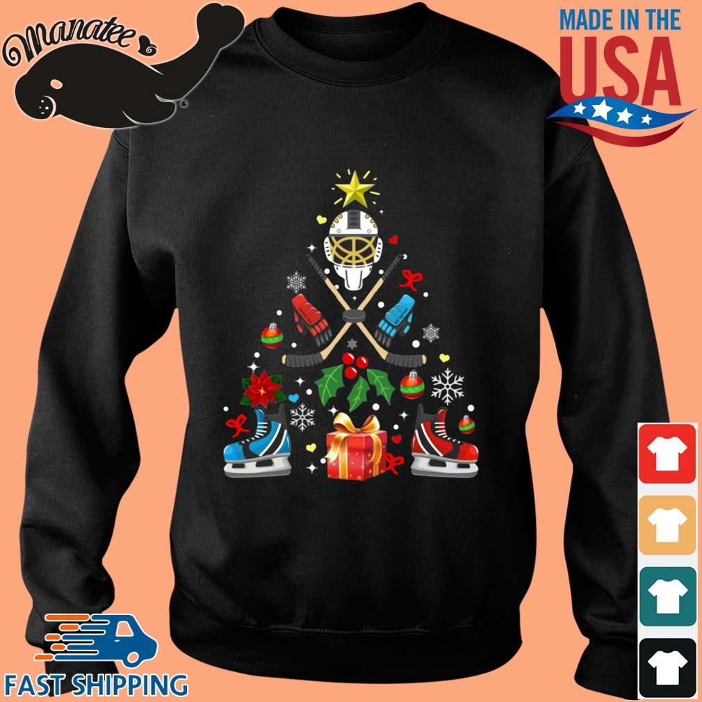 Hockey Christmas tree sweater Sweater den