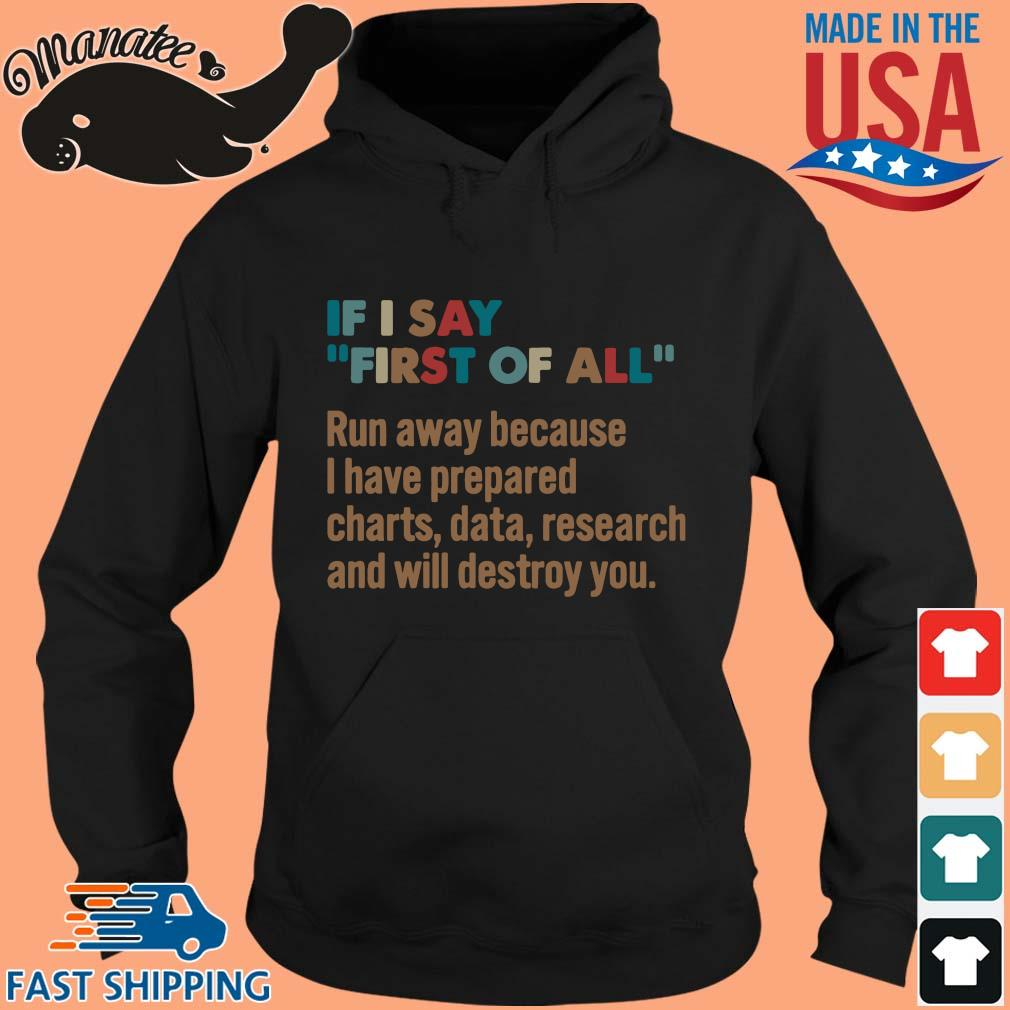 If I say first of all run away because I have prepared s hoodie den
