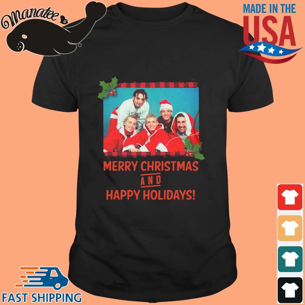 NSYNC Merry Christmas and happy holidays shirt