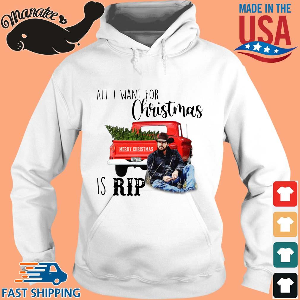 Official all I want for Christmas is rip Christmas sweater hoodie trang