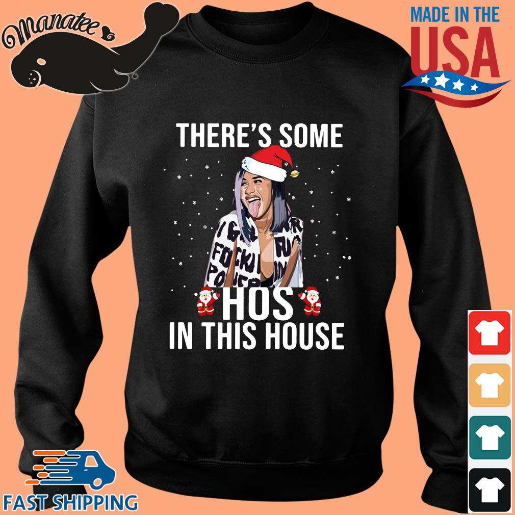 Santa Cardi B there's some hoes in this house Christmas sweater