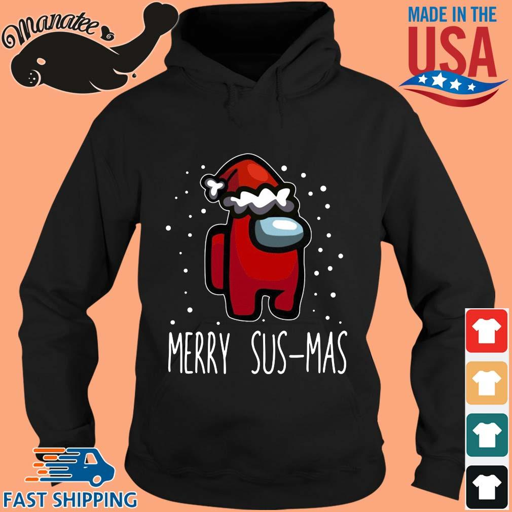 Santa Red Among Us Merry Sus-Mas Christmas sweater hoodie den