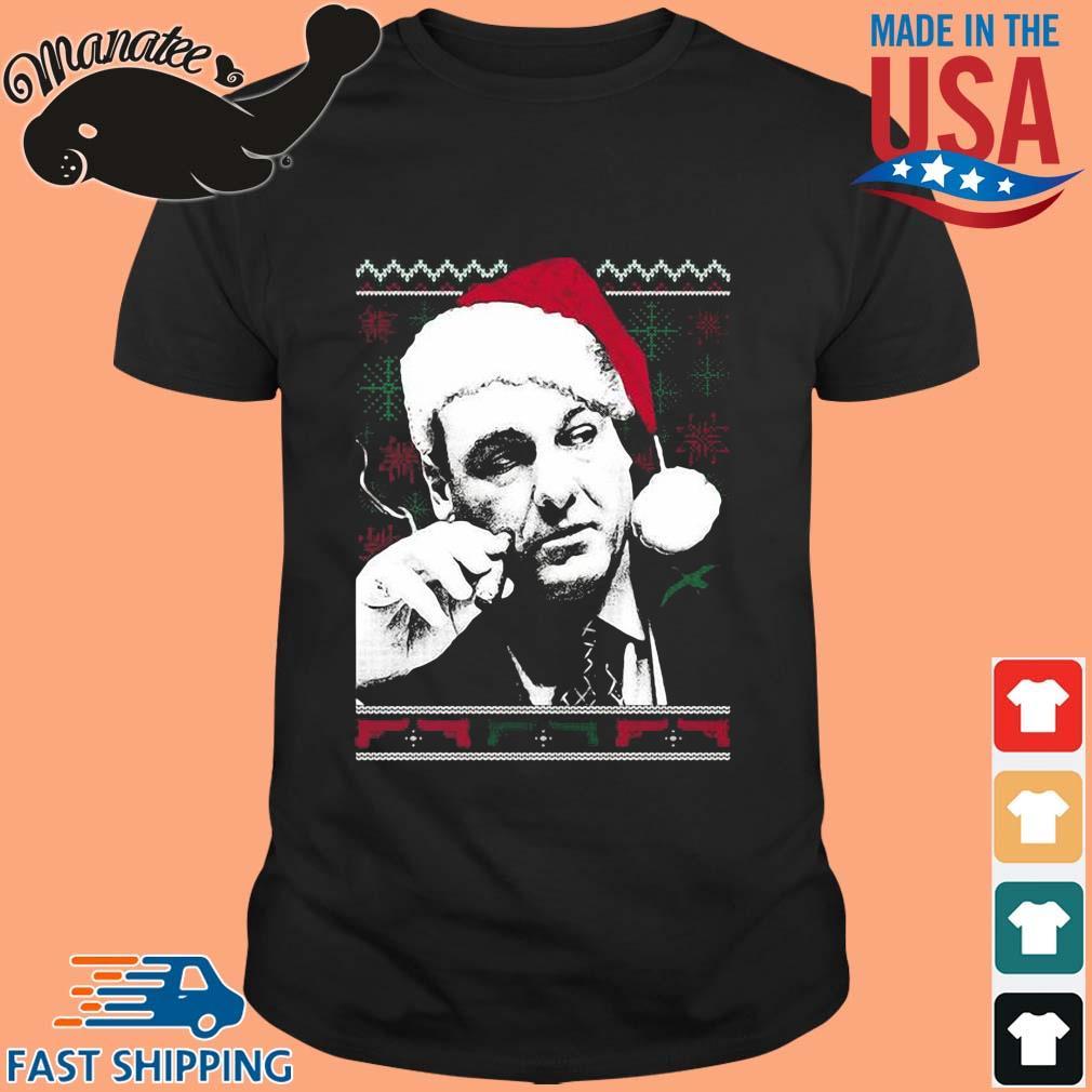 Santa Tony Soprano Ugly Christmas sweater