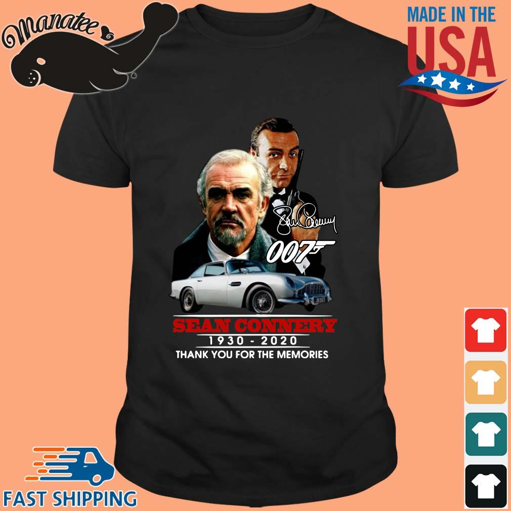 007 Sean Connery 1930-2020 thank you for the memories signature shirt