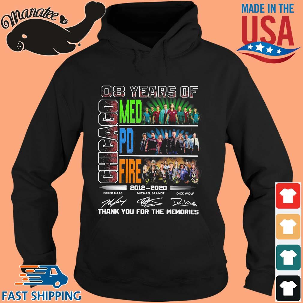 08 years of Chicago Med Pd Fire thank you for the memories signatures sweater hoodie den