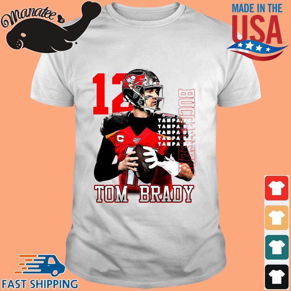 12 Tom Brady Tampa Bay Buccaneers T-Shirt