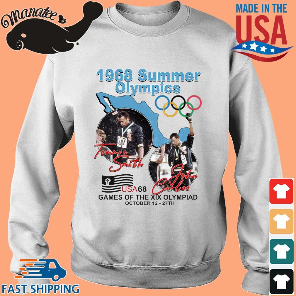 1968 summer Olympics Tommie Smith John Carlos USA68 games of the XIX Olympiad october 12 27 th Sweater