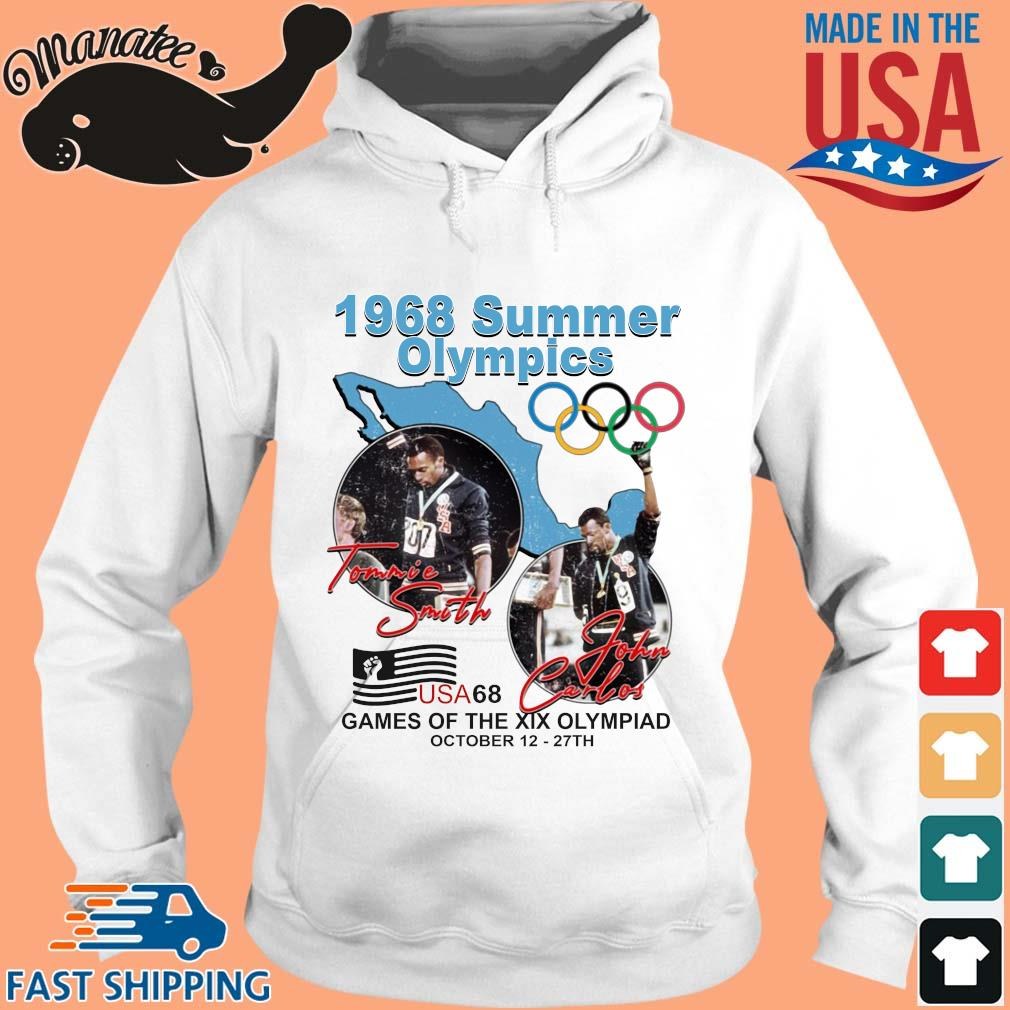 1968 summer Olympics Tommie Smith John Carlos USA68 games of the XIX Olympiad october 12 27 th Sweater hoodie trang