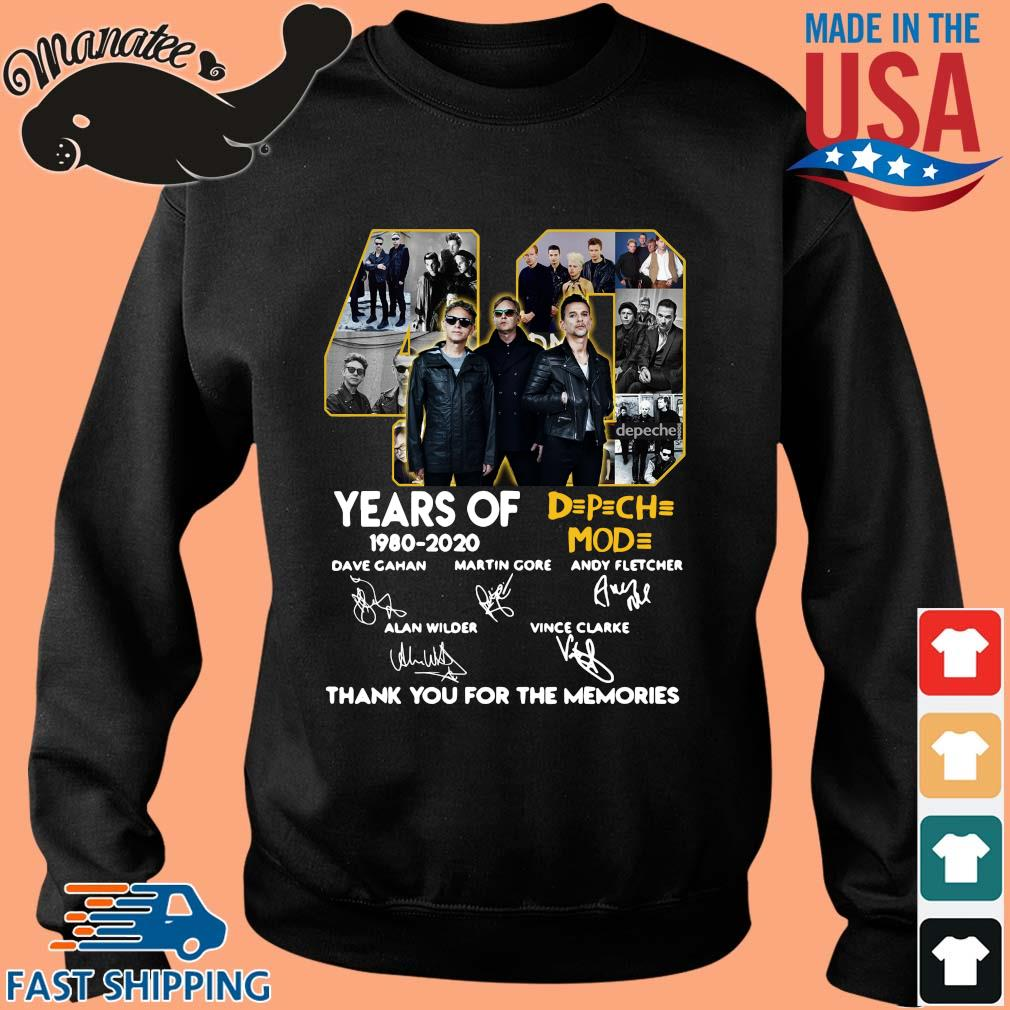40 years of DPCH MOD 1980 2020 signatures thank you for the memories sweater