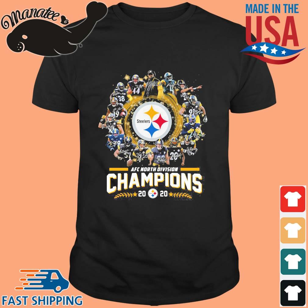 AFC north division Champions 2020 Pittsburgh Steelers signatures shirt