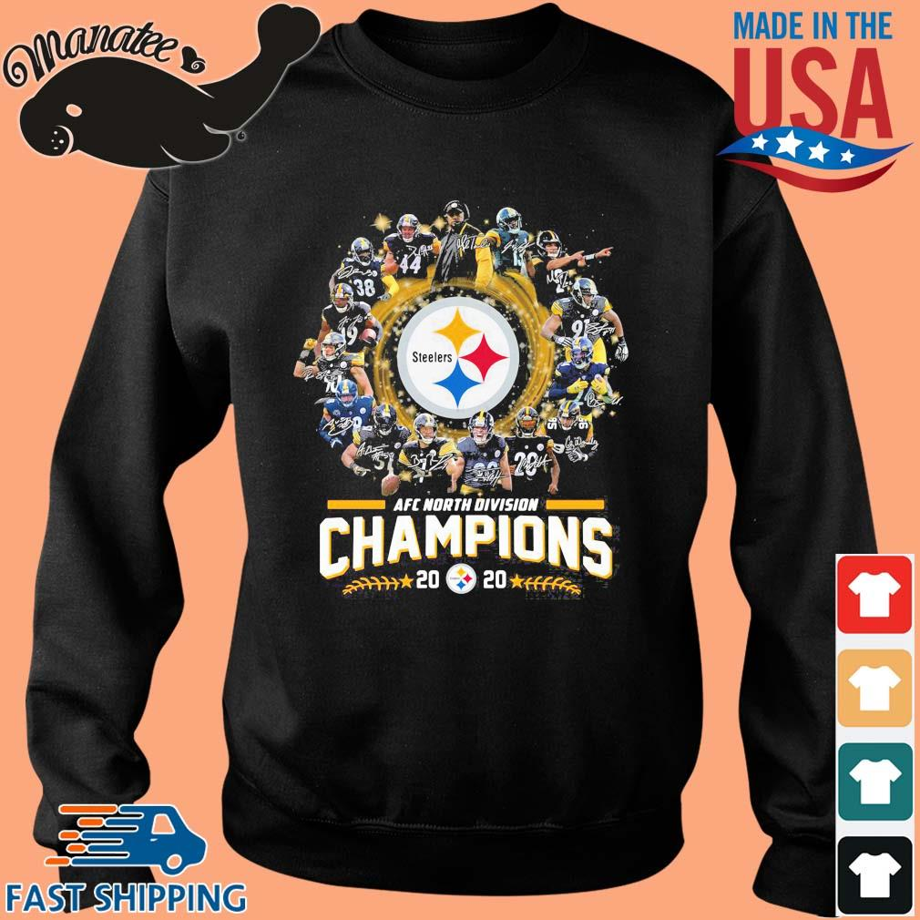 AFC north division Champions 2020 Pittsburgh Steelers signatures s Sweater den