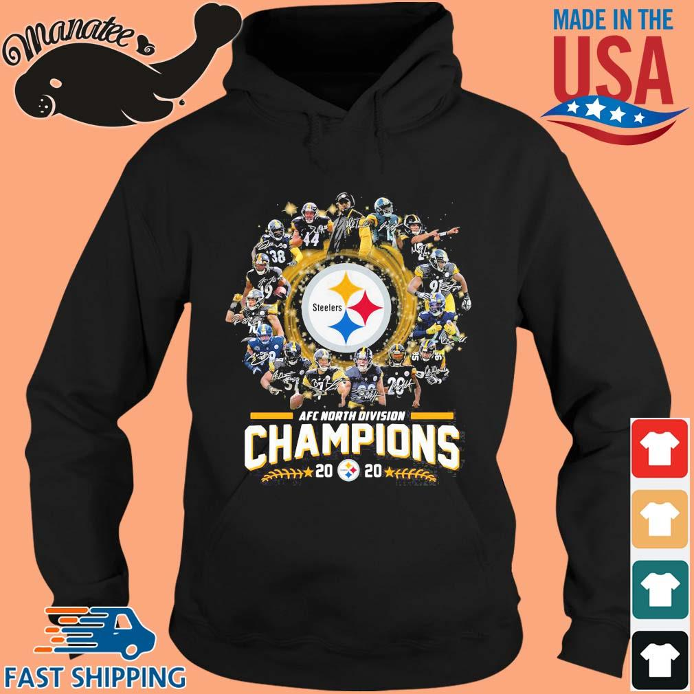 AFC north division Champions 2020 Pittsburgh Steelers signatures s hoodie den