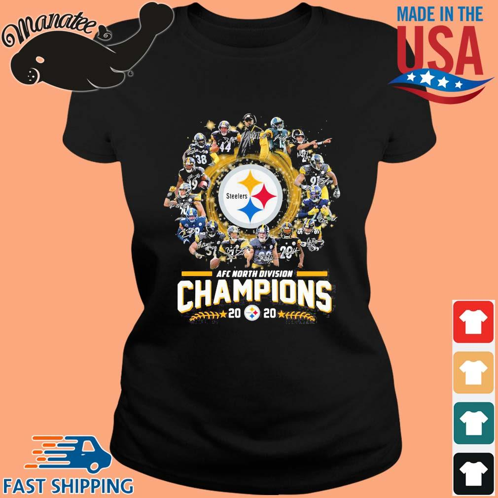 AFC north division Champions 2020 Pittsburgh Steelers signatures s ladies den