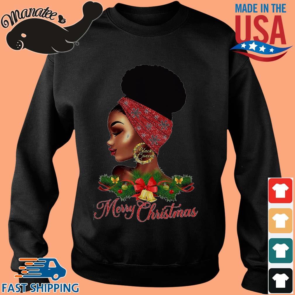 Black Girl Black Queen Merry Christmas Sweater