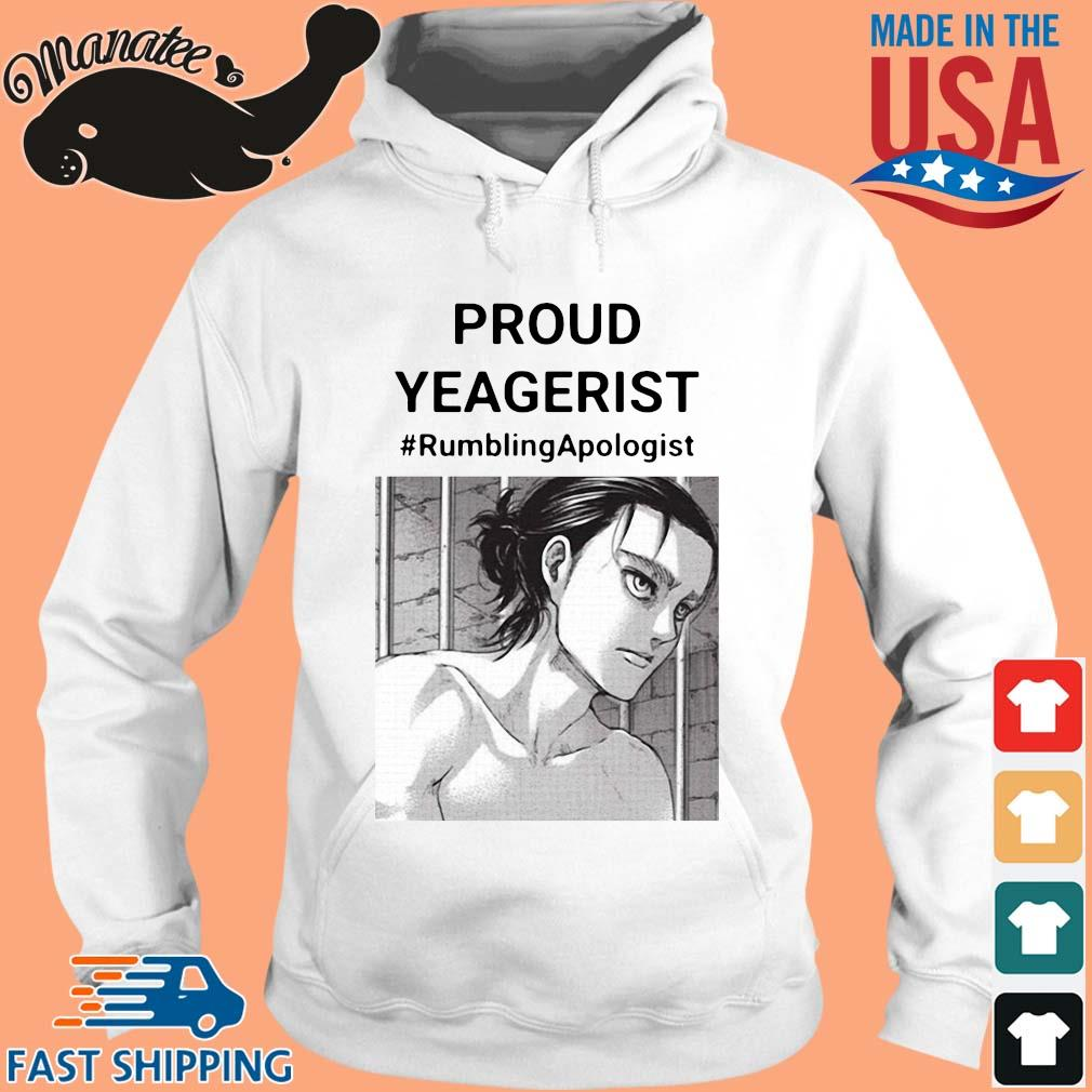 Proud yeagerist rumbling apologist s hoodie trang