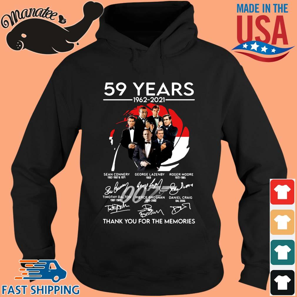 007 59 years 1962-2021 thank you for the memories signatures s hoodie den