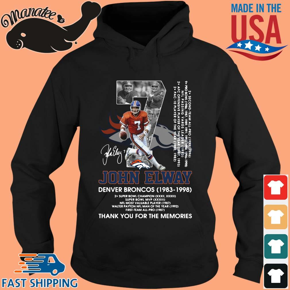 07 John Elway Denver Broncos 1983-1998 thank you for the memories signature s hoodie den