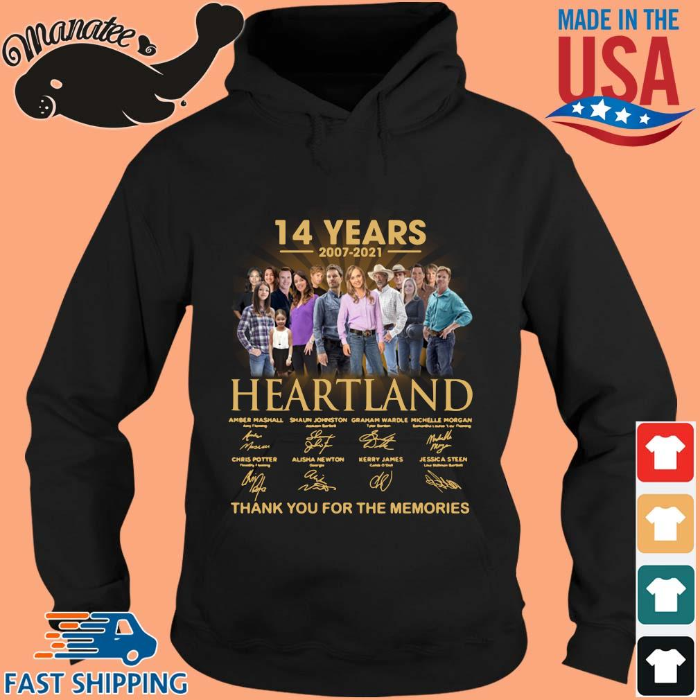 14 years of 2007-2021 Heartland thank you for the memories signatures wisptee hoodie den