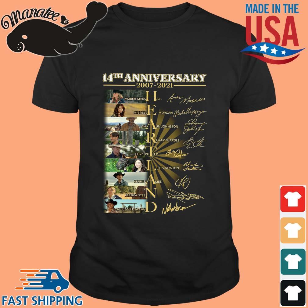 14th anniversary 2007-2021 Heartland signatures shirt