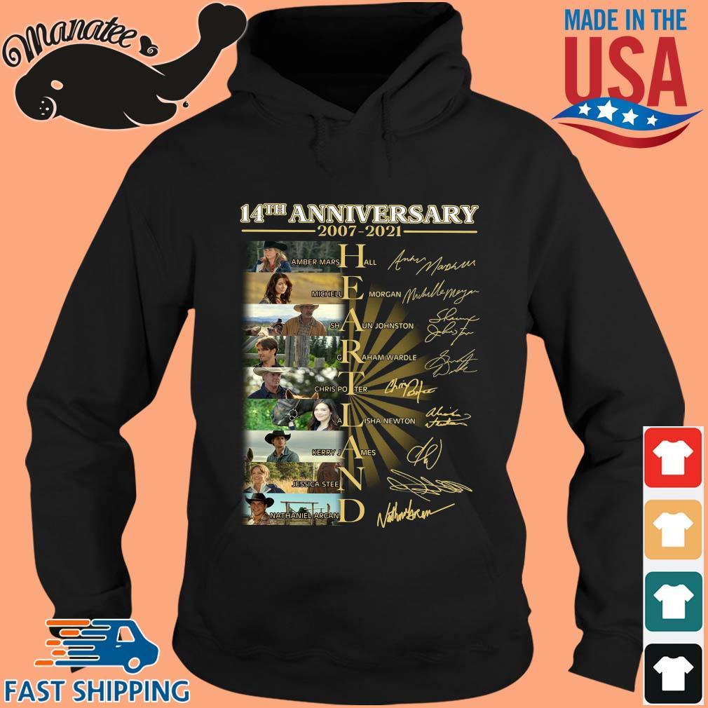 14th anniversary 2007-2021 Heartland signatures s hoodie den