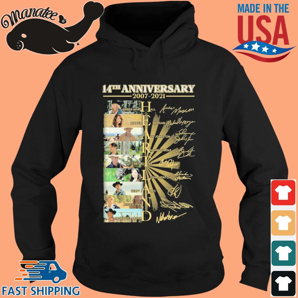 14th anniversary 2007-2021 Heartland signatures s hoodie den